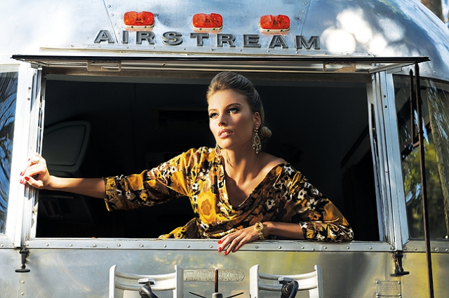 Sarasota fashion photographer Vintage fashion photography Florida fashion photographer Editorial photographer in Sarasota Vintage Airstream