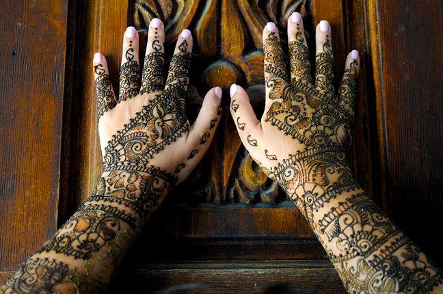 Cross cultural weddings Bridal henna wedding photographer Sarasota wedding photographer Henna hands for wedding